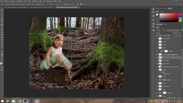 Liz in het sprookjesbos - Photoshopbewerking
